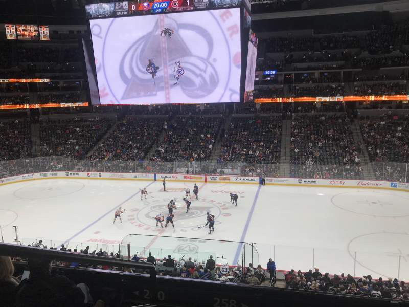 Seating view for Pepsi Center Section 258 Row 4 Seat 18