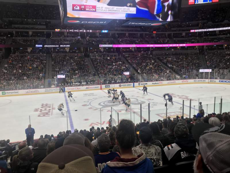 Seating view for Pepsi Center Section 126 Row 17 Seat 16