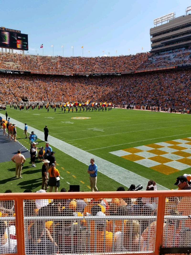 Seating view for Neyland Stadium Section Z12 Row 3 Seat 10