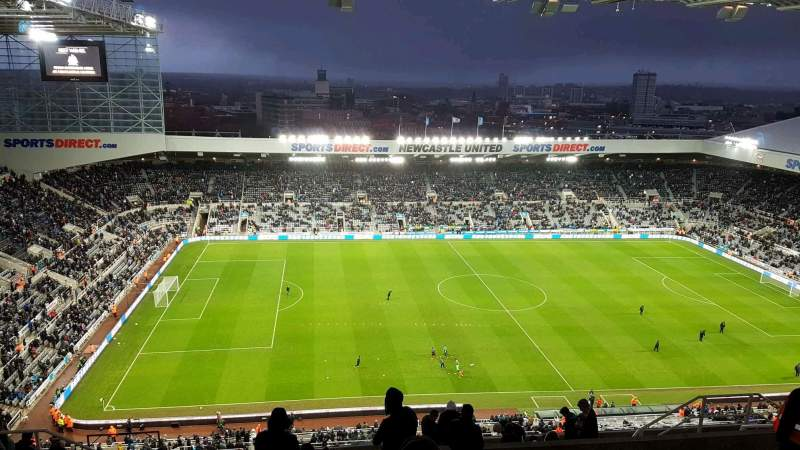 Seating view for St James' Park Section L7G Row R Seat 174