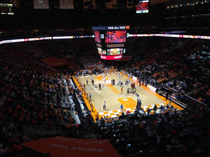 Seating view for Thompson-Boling Arena Section 317 Row 23 Seat 2