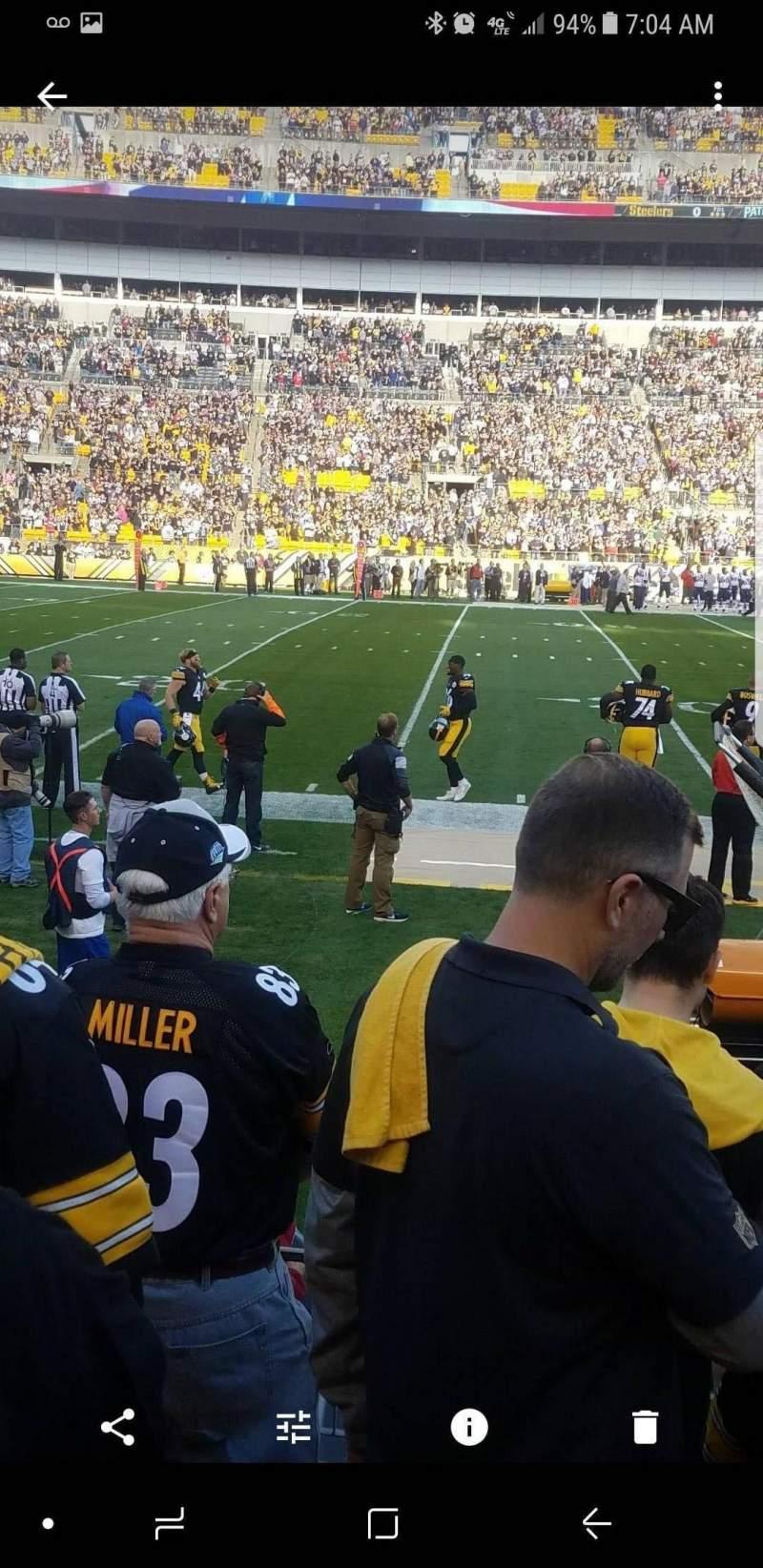 Heinz Field, section: 133, row: E, seat: 10