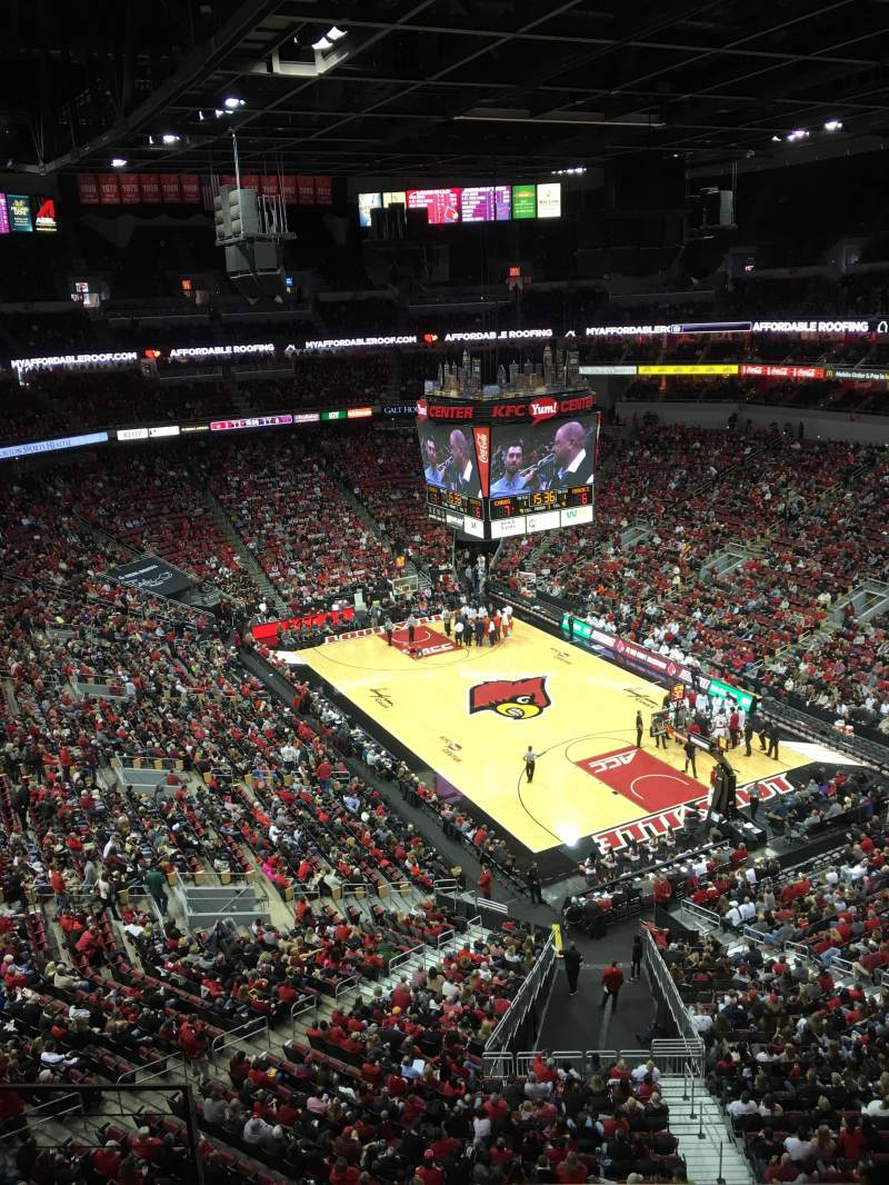 Seating view for KFC Yum! Center Section 303 Row D Seat 13