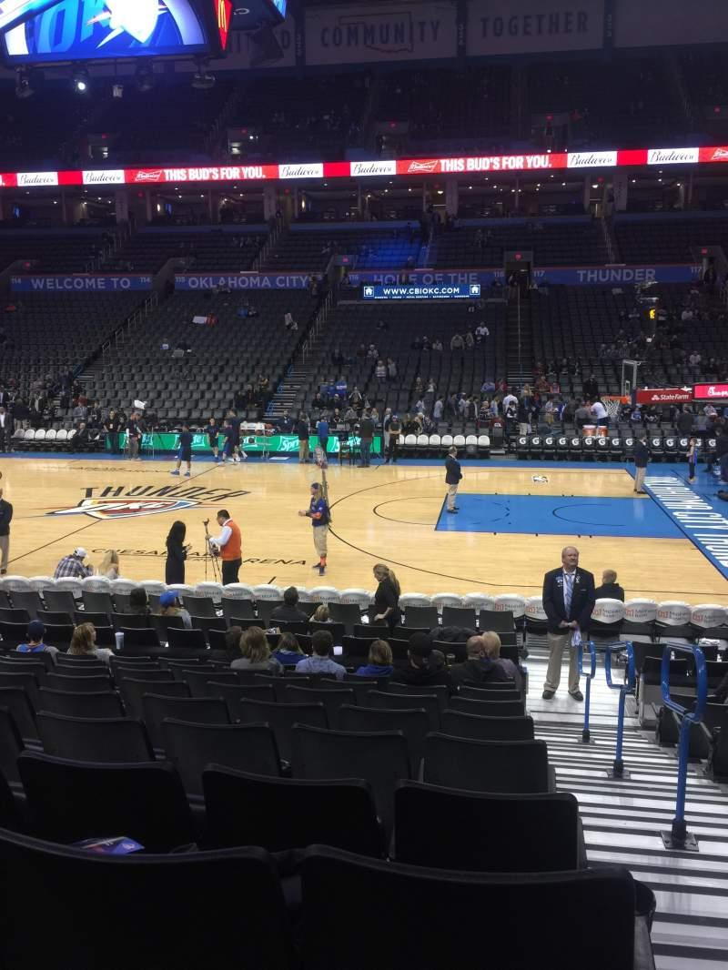 Chesapeake Energy Arena, section: 105, row: L, seat: 1
