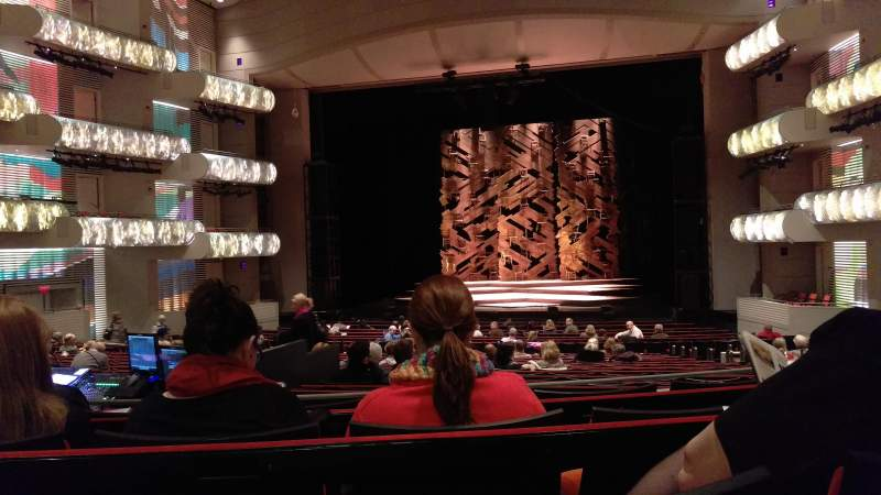 Seating view for Muriel Kauffman Theatre Section PART-C Row DD Seat 131