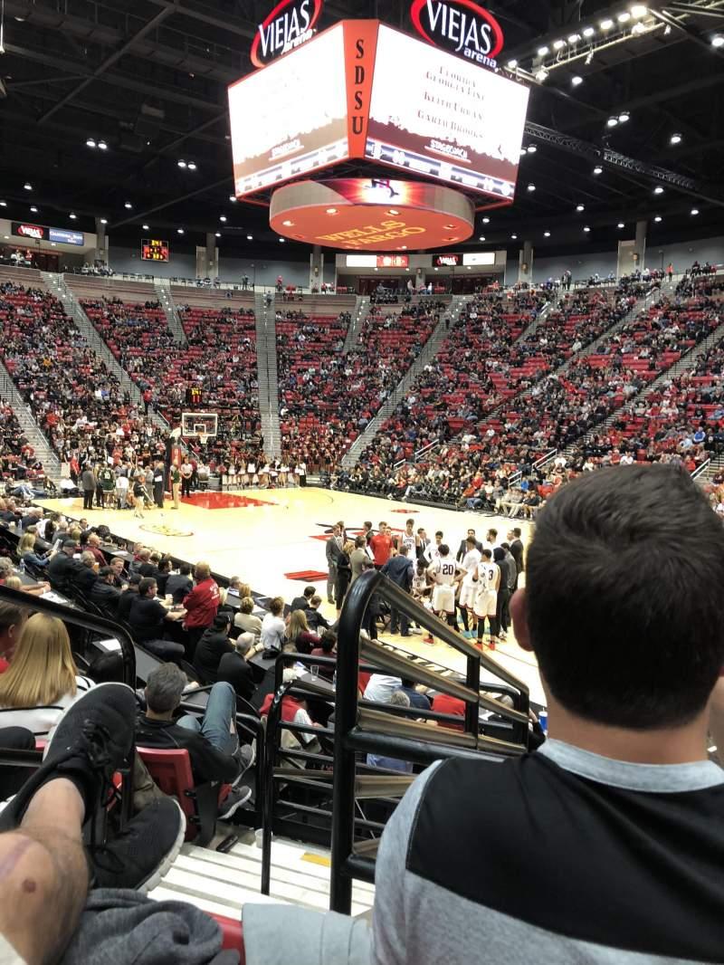 Viejas Arena, section: U, row: 10, seat: 13