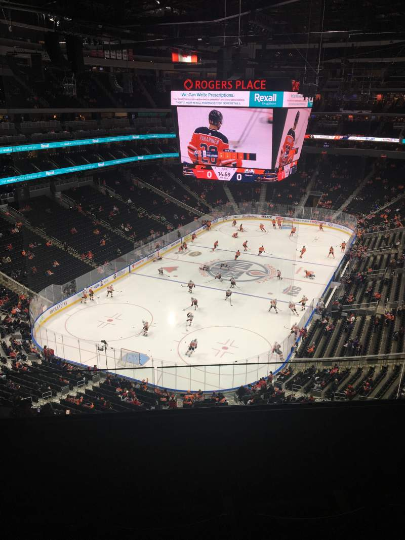 Rogers Place, section: 209, row: 3, seat: 6