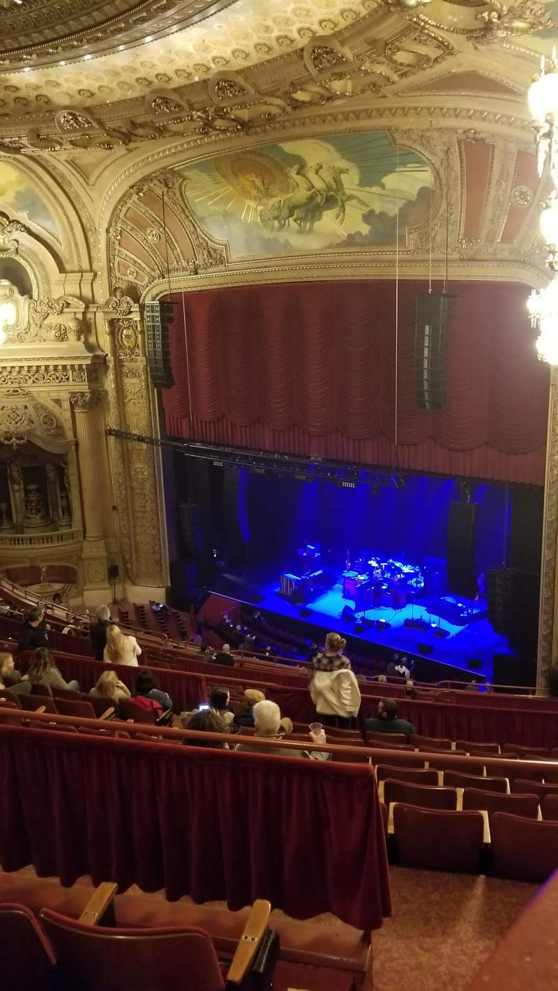 Seating view for Chicago Theatre Section Balcony Box 17 Row 1 Seat A