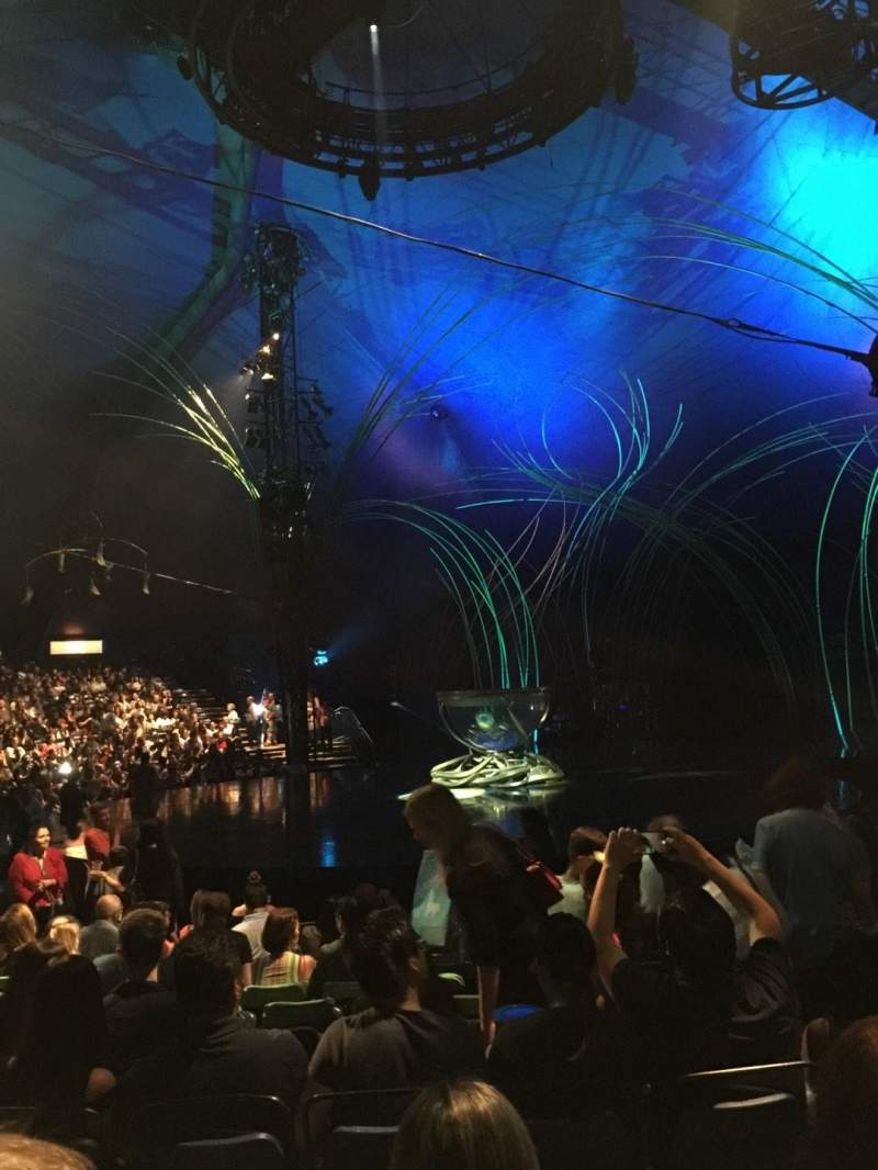 Seating view for Cirque du Soleil - Amaluna Section 202 Row J Seat 7