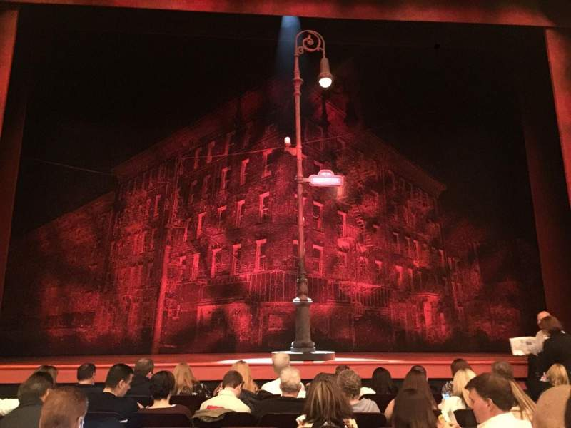 Longacre Theatre, section: Orch Center, row: H, seat: 110