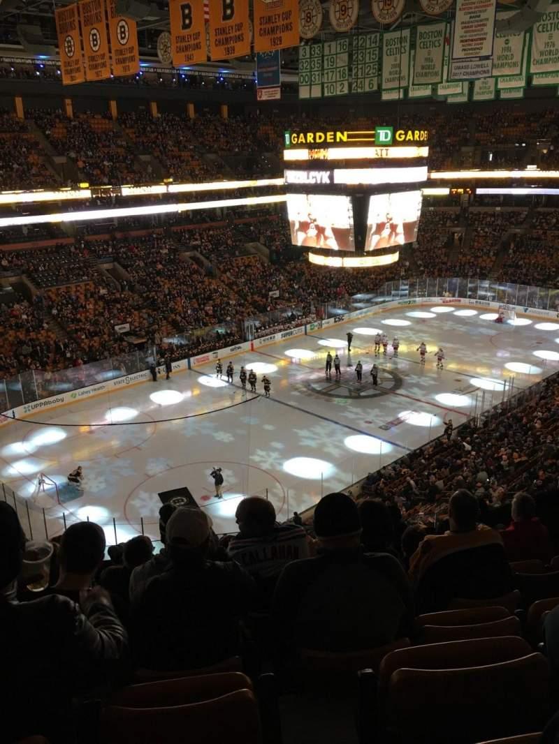 TD Garden, section: Bal 320, row: 7, seat: 5