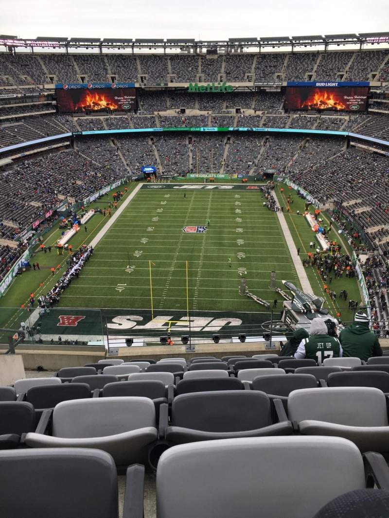Seating view for MetLife Stadium Section 325 Row 12 Seat 20