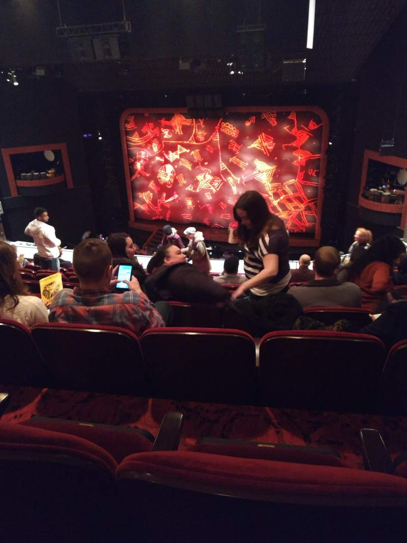 Seating view for Minskoff Theatre Section Mezzanine Row J Seat 147