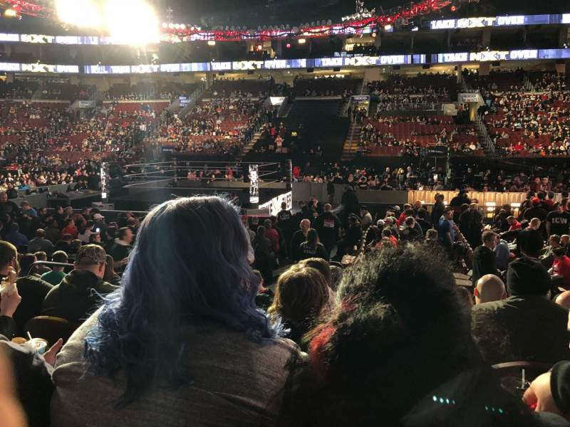 Seating view for Wells Fargo Center Section 114 Row 8 Seat 6