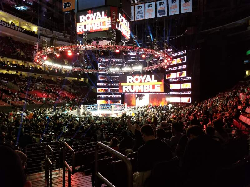 Seating view for Wells Fargo Center Section 109 Row 10 Seat 13