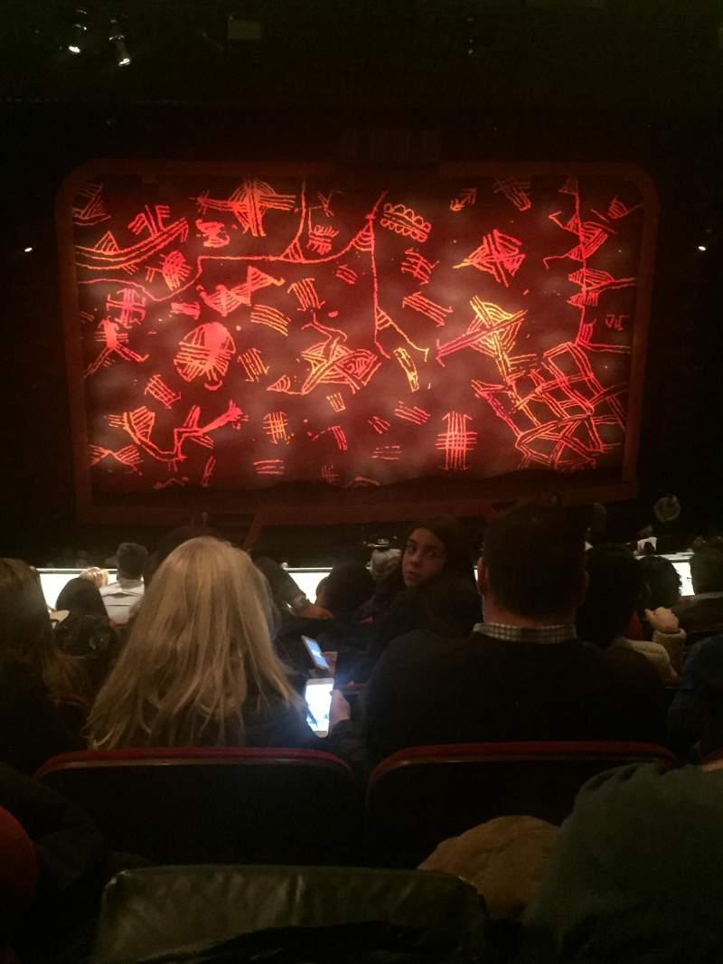 Seating view for Minskoff Theatre Section Mezzanine Row H Seat 117