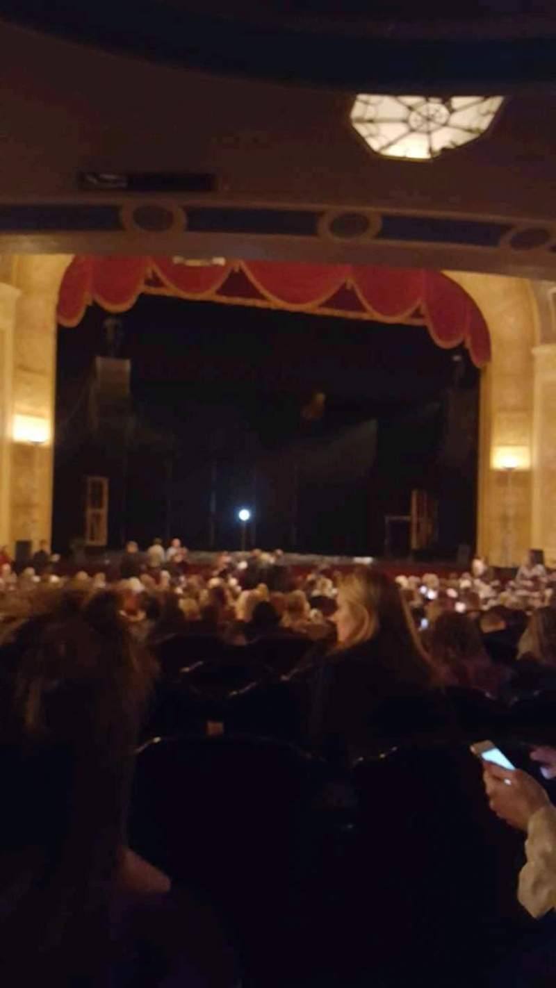 Seating view for Detroit Opera House Section Main Floor 3 Row Y Seat 117