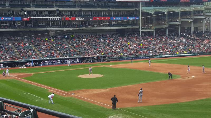Seating view for Progressive Field Section 330 Row B Seat 2
