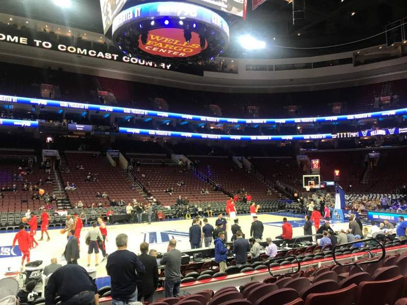 Seating view for Wells Fargo Center Section 124 Row 9 Seat 12
