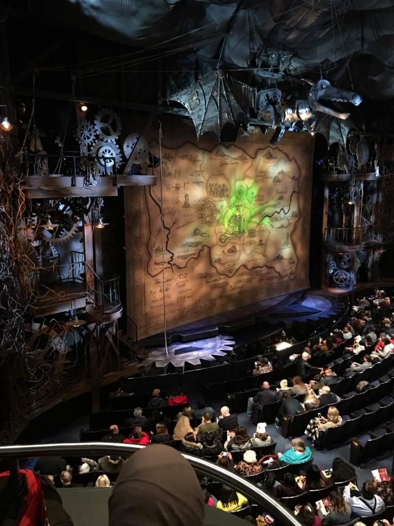 Gershwin Theatre, section: Front Mez L, row: BB, seat: 3