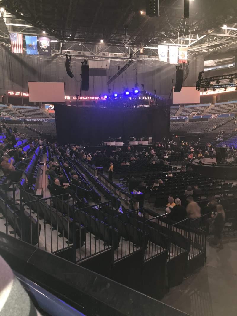 Chesapeake Energy Arena, section: 102, row: K, seat: 18