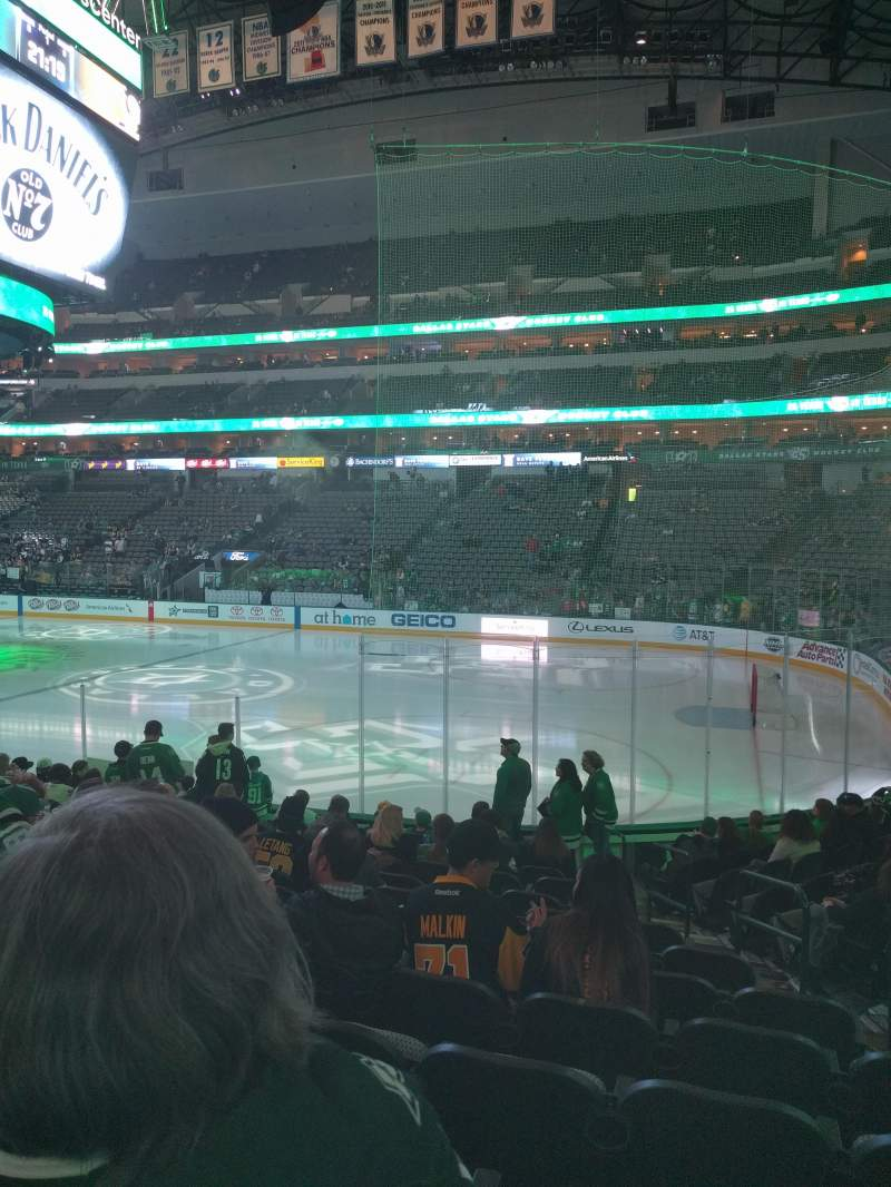 Seating view for American Airlines Center Section 104 Row N Seat 5