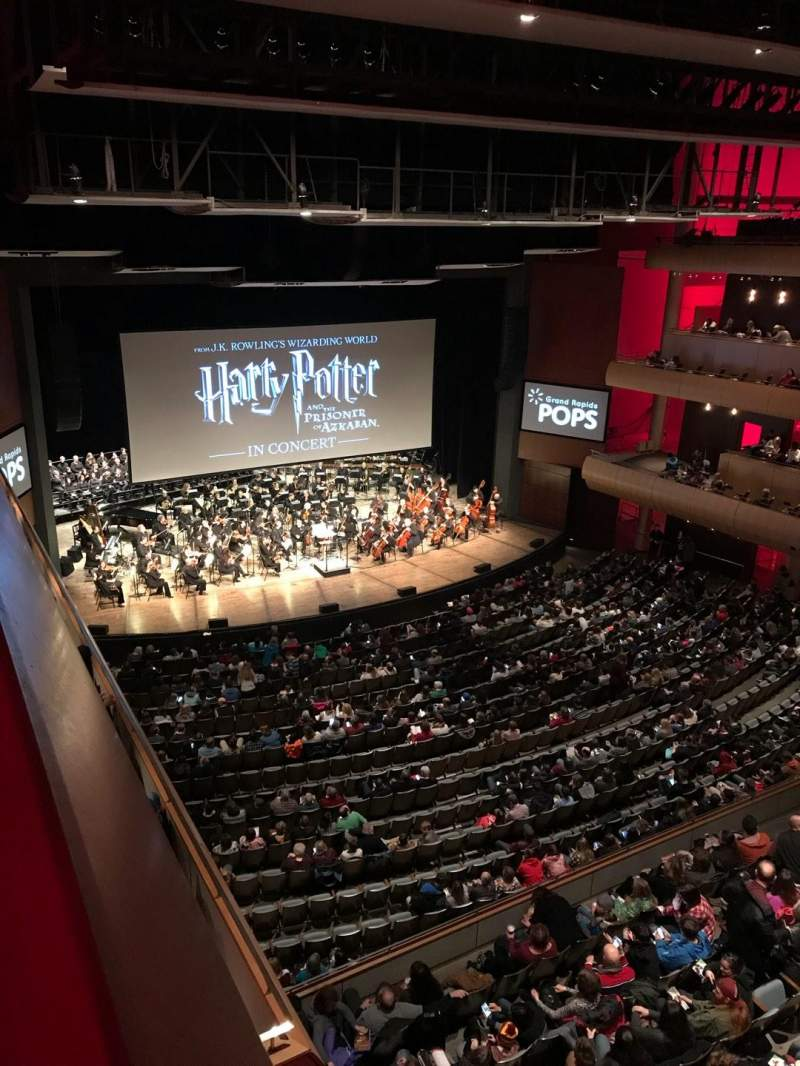 Seating view for DeVos Performance Hall Section Gallery Row B Seat 8