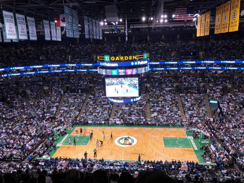 TD Garden, section: BAl 301, row: 12, seat: 1