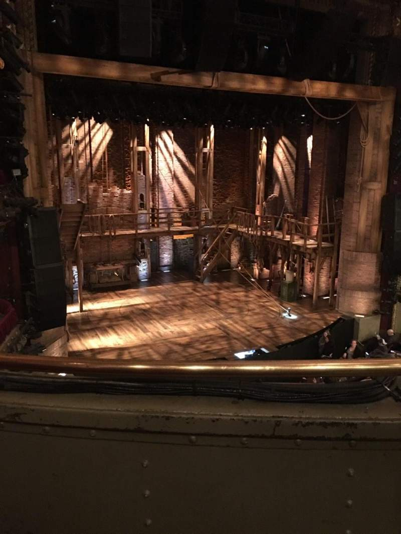 Seating view for CIBC Theatre Section MEZZ-L Row B Seat 3