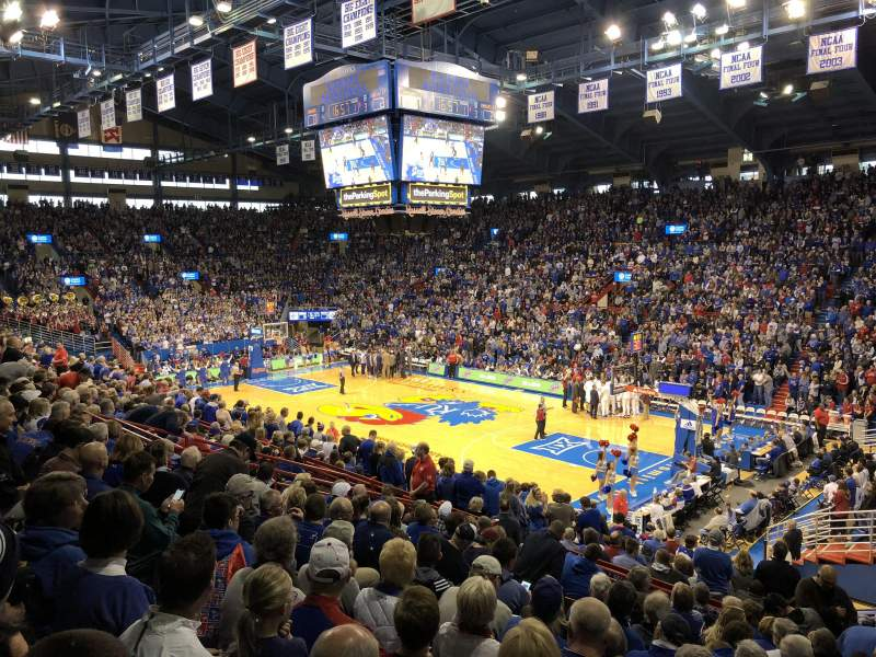 Seating view for Allen Fieldhouse Section Corner 3 Row 12 Seat 10