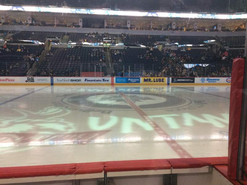 Seating view for Bell MTS Place Section 119 Row 3 Seat 2
