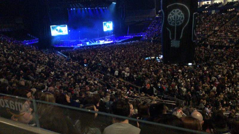 The O2 Arena, section: 105, row: ZZ, seat: 124