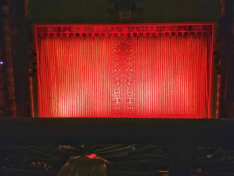 Seating view for New Amsterdam Theatre Section Mezzanine C Row AA Seat 108