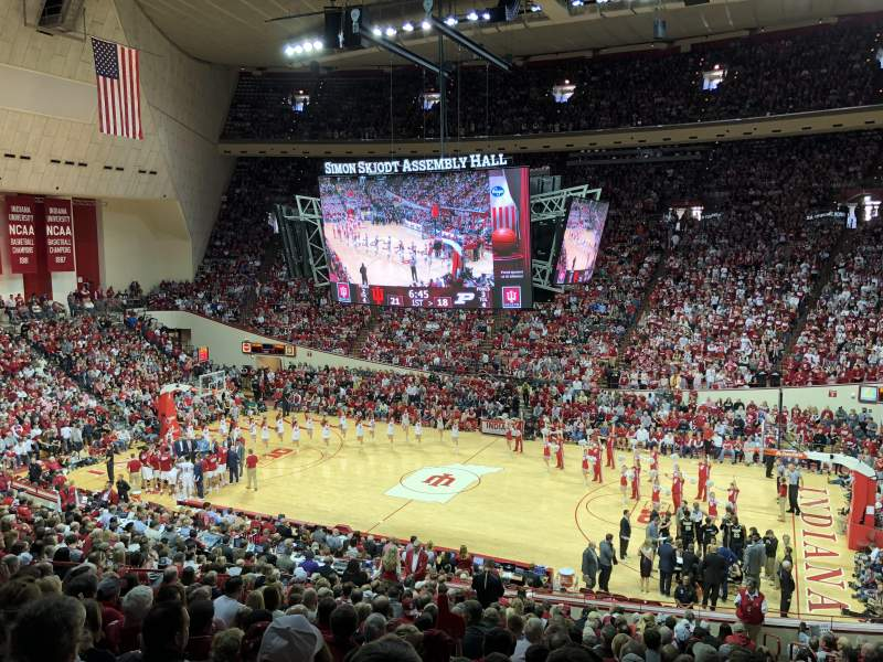 Seating view for Assembly Hall (Bloomington) Section B Row 21 Seat 7
