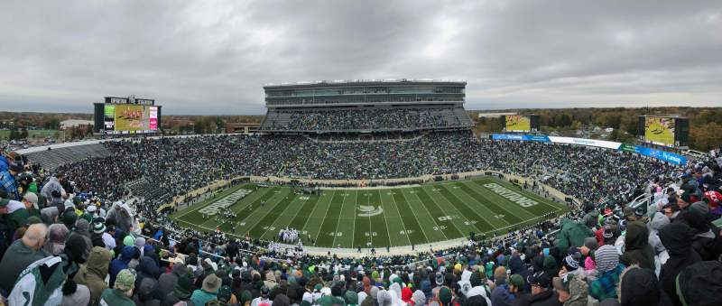 Seating view for Spartan Stadium Section 109 Row 24 Seat 1
