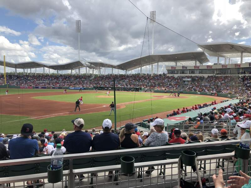 Seating view for JetBlue Park Section 216 Row 2 Seat 7