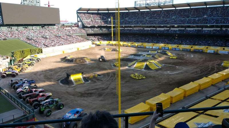 Seating view for Angel Stadium Section 404 Row c Seat 6