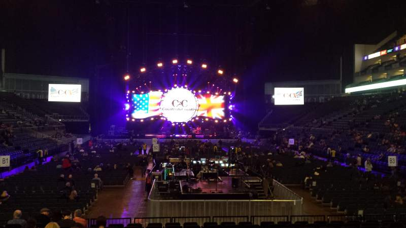 The O2 Arena, section: 106, row: L, seat: 199