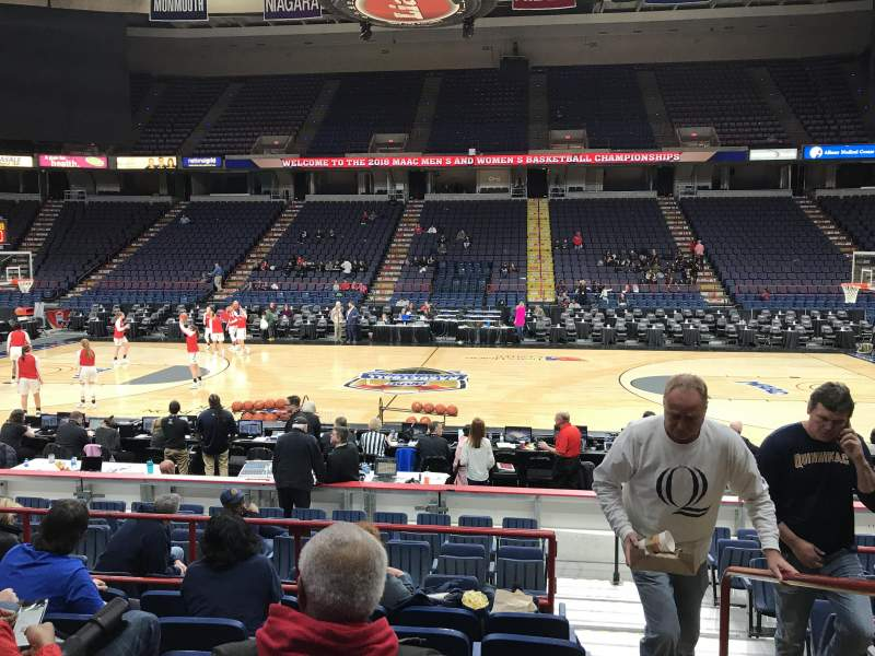 Times Union Center, section: 105, row: F, seat: 1