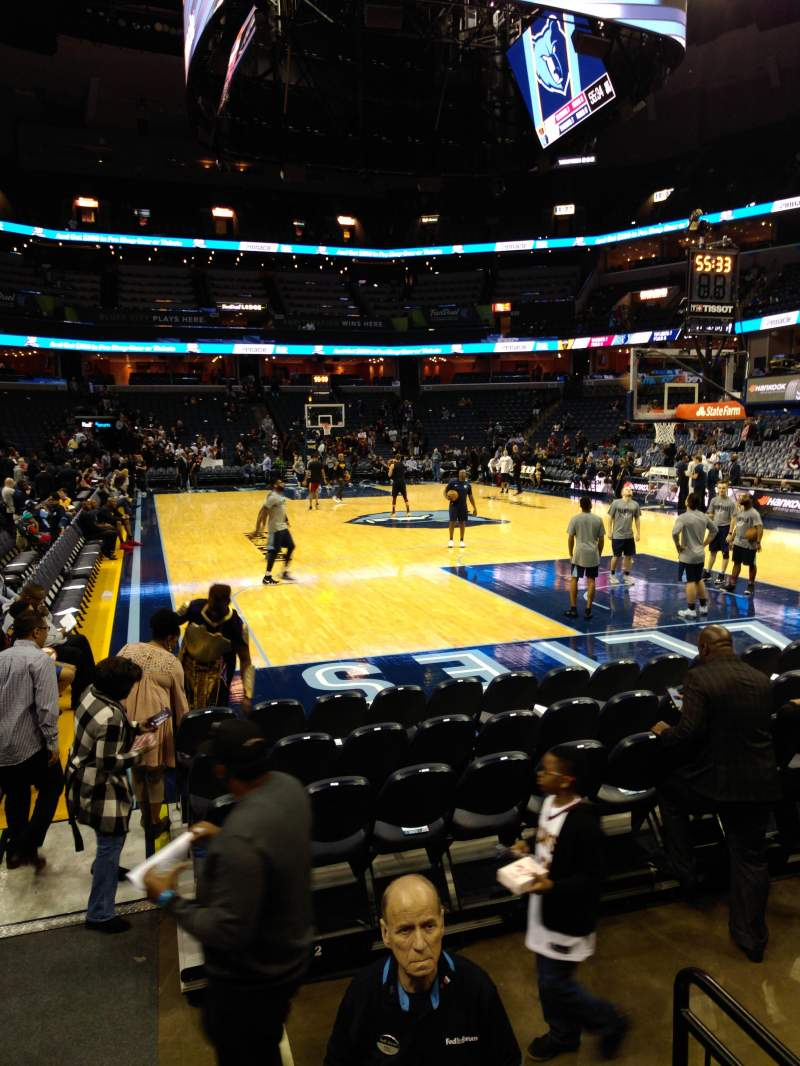 Seating view for FedEx Forum Section 116 Row J