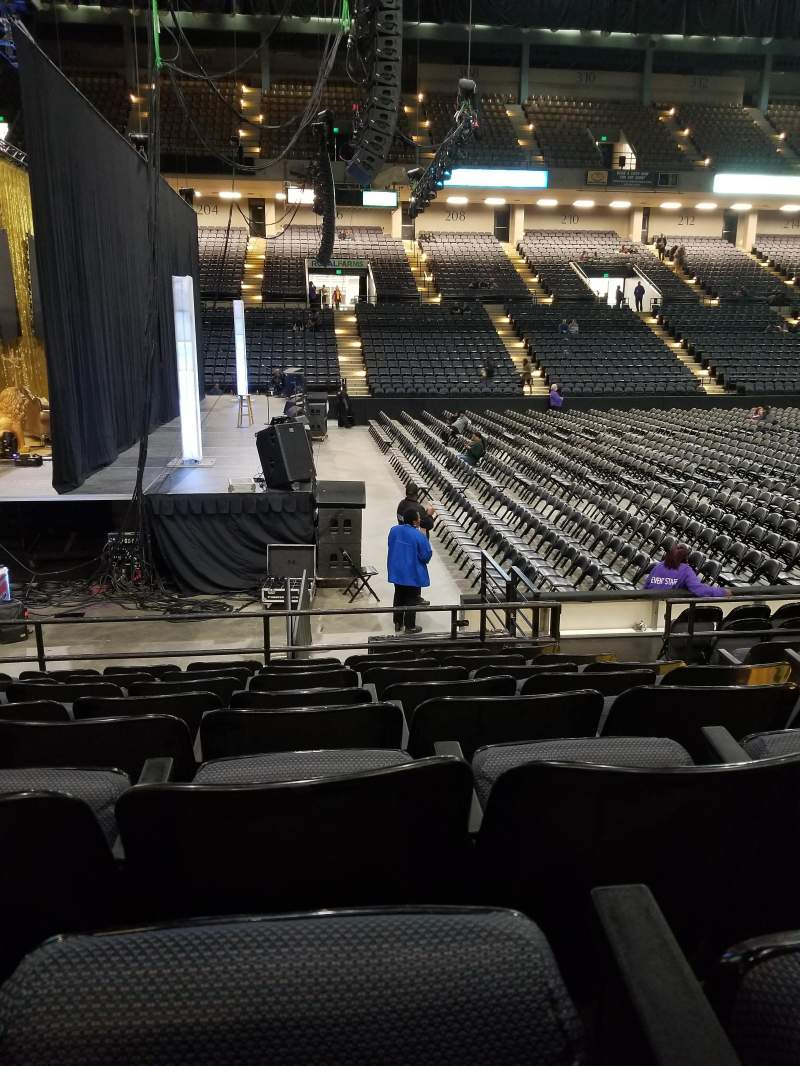 Seating view for Royal Farms Arena Section 103 Row H Seat 3