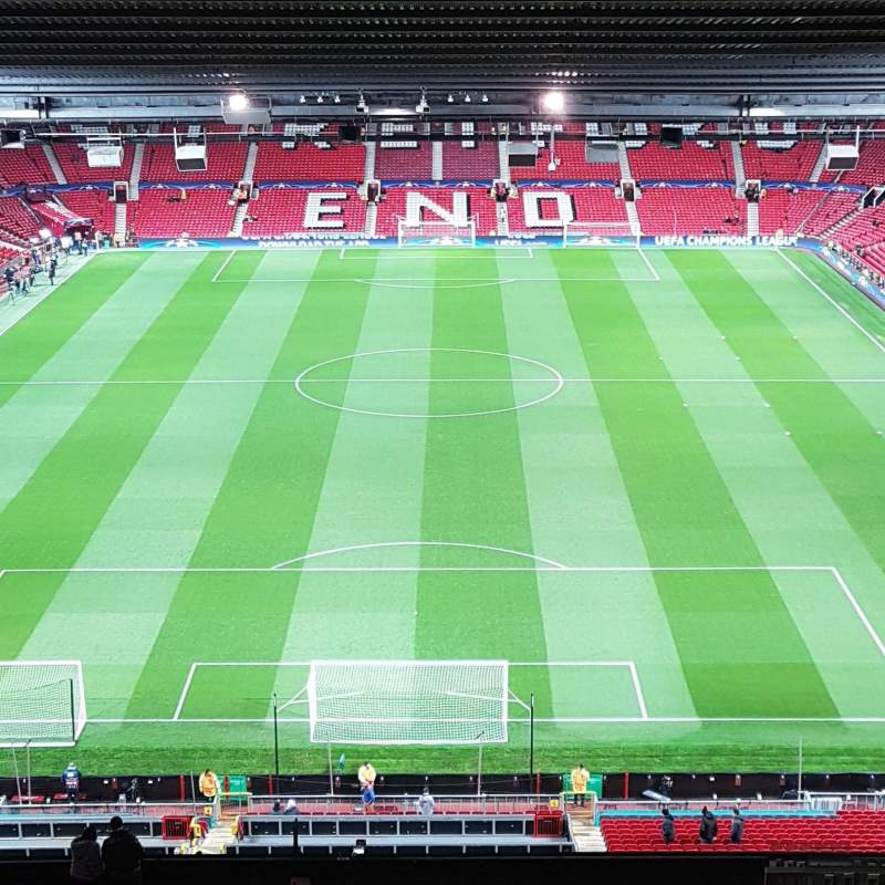 Seating view for Old Trafford Section E334 Row 32 Seat 87