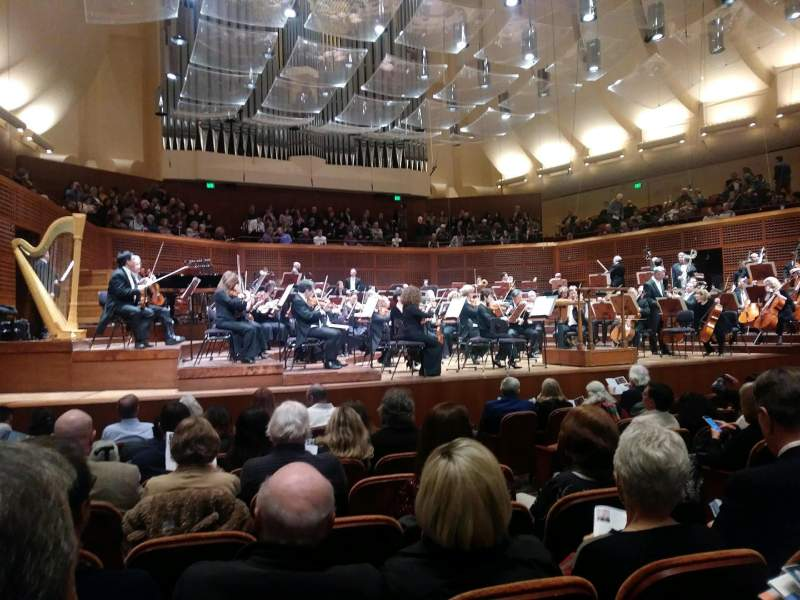 Seating view for Davies Symphony Hall Section Orchestra Row H Seat 9
