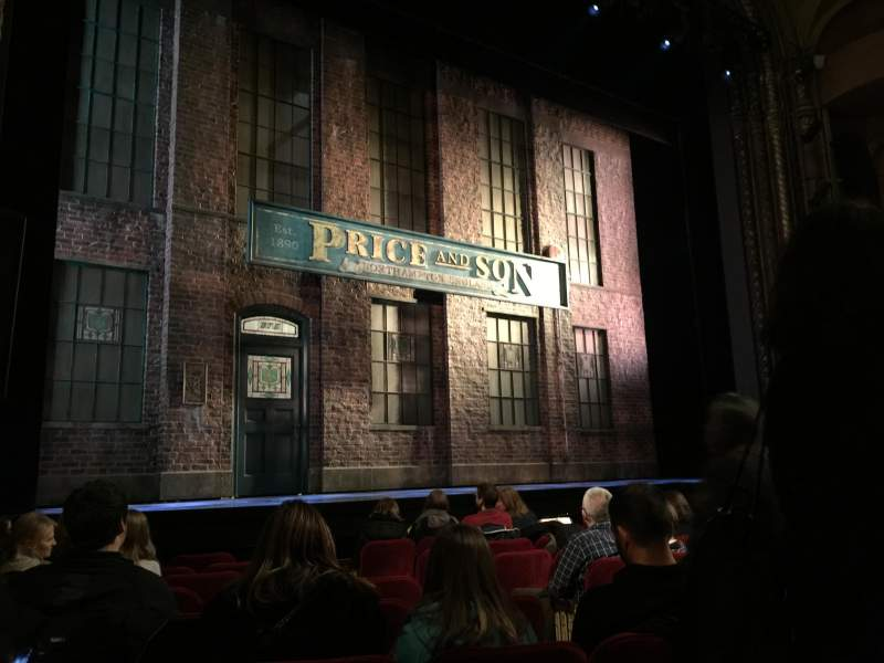 Seating view for Al Hirschfeld Theatre Section Orchestra L Row J Seat 9
