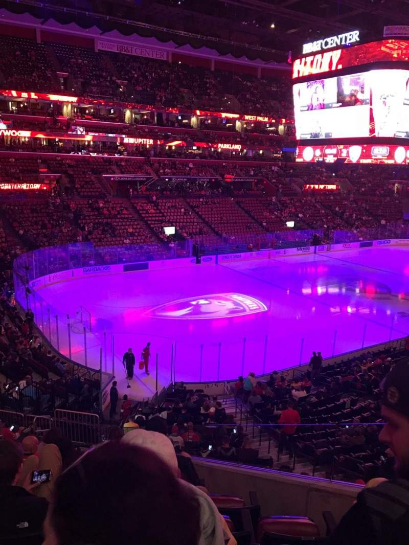 Seating view for BB&T Center Section 123 Row 24 Seat 3