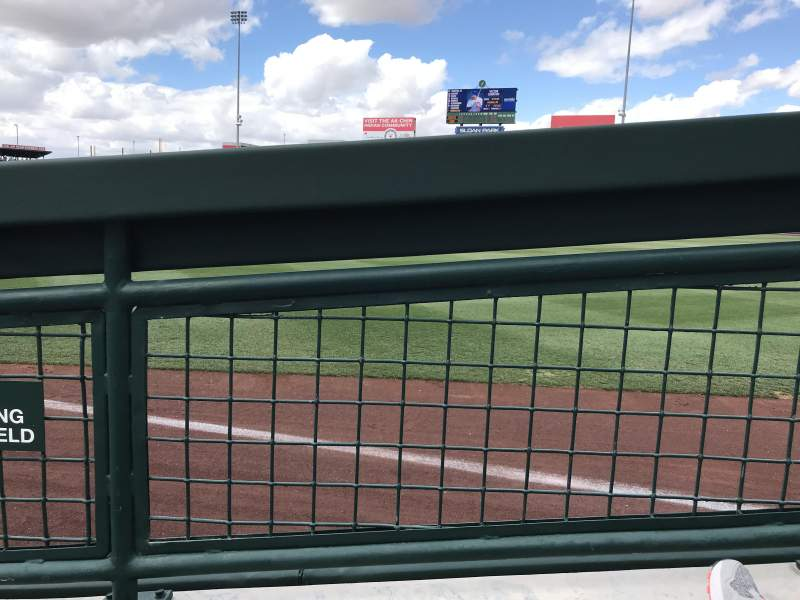Sloan Park, section: 121, row: 4, seat: 13