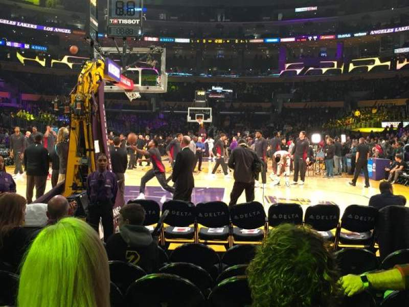 Seating view for Staples Center Section 106 Row G Seat 7