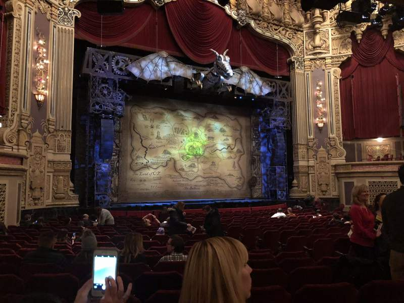 Oriental Theatre, section: Orchestra left, row: V, seat: 13