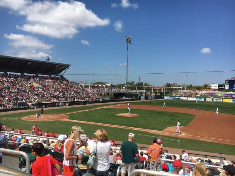 Hammond Stadium, section: 202, row: 3, seat: 19