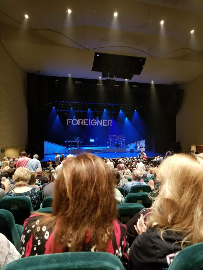 Seating view for Ruth Eckerd Hall Section Orch Row W Seat 52